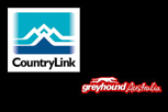 Image of CountryLink and Greyhound logos